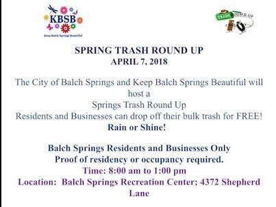 KBSB Spring Trash Round Up flier