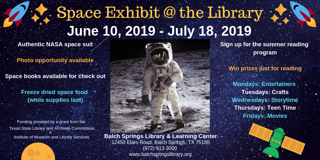 Space Exhibit @ the Library