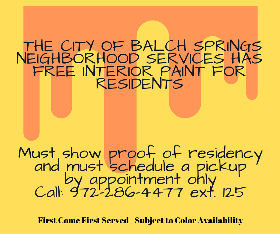 free interior paint for city of Balch Springs residents (5)