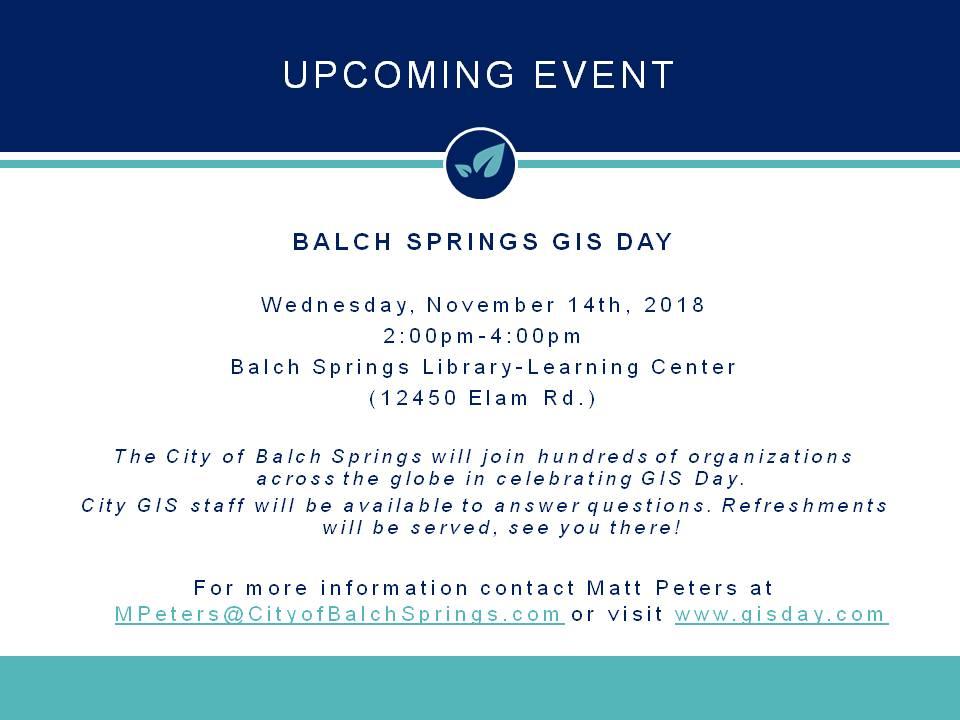 Balch Springs Tx Official Website