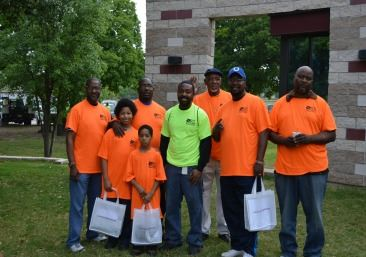 Teams head to designated locations during the KBSB Community Clean Up